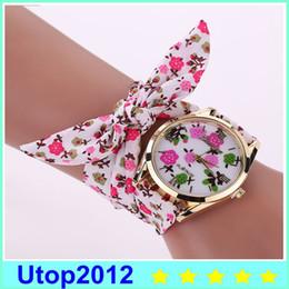 Wholesale Red Fabric Flower Pin - Hot Selling Women Summer Style Flower Bracelet Luxury Watch Women Dress Watches Watch Gold Quartz Wristwatch XR1886