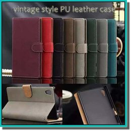 Wholesale Universal Vintage - hot vintage style PU leather case Retro Wallet Phone Case With Card Slots Filp Stand Photo Frame For Samsung s6 iphone case with DHL free