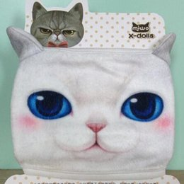 Wholesale Personal Masks - 5pcs lot Personal Cute Ute Unisex 3D Cat Dog Face Cycling Anti-Dust Cotton Mouth Face Mask Respirator Style Random