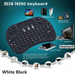 Wholesale Bluetooth Keyboard Keypad - 20p Rii i8 Remote Mouse Keyboard Combo Wireless 2.4GHz Touchpad Keypad For MXQ MXIII MX3 M8 CS918 M8S MX2 T8 WIFI Bluetooth TV BOX 2 Color