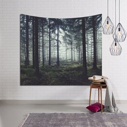 Wholesale Painting Mat - 100*150cm Decor Rectangular Tapestry Mat Landscape Wall Hanging Decorative Tapestry Nature Tree Painting Clothe Craft Background