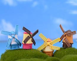 4 pz Mulino a vento Casa fata giardino gnome moss terrario casa desktop decorazione artigianato bonsai casa di bambola miniature FAI DA TE da