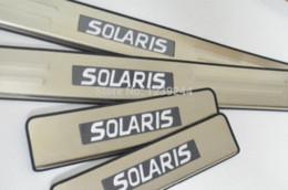 Wholesale Led Illuminated Door Sills - Illuminated Door Sill LED Scuff Plate For Hyundai Solaris (Accent) 2010-2014 M4984 door fix plate surface