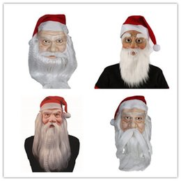 Wholesale funny santa costumes - Santa Father Christmas Mask Carnival Christmas Santa Claus Mask New Style Best For Christmas Party Occasion Dress Up