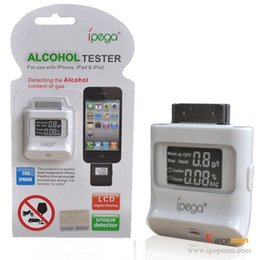 Wholesale Ipega Iphone Breath - Wholesale-100pcs iPega Backlight Breath Alcohol Tester for iPhone 4 4S iPod iPad with LCD Digital Display Unique Dectector DHL Free Ship