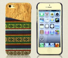Wholesale Tribal Wallet Iphone Cases - Fabric Retro Tribal Wove Wood Wooden Grain Case PC cover With Credit Card Slot For iPhone 5 5S 6 Plus Samsung Galaxy S5 I9600 Note 3 4 Note4