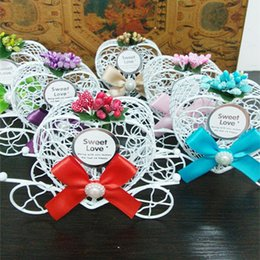 Wholesale Wholesale Wedding Bird Cages - hot selling sweet box for cookies candy Wedding party decoration Favor gift candy chocolate boxes White Bird Cage Wedding Gift Box HS9208