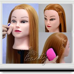 "Wholesale Cosmetology Mannequin Heads Real Hair - 100% NEW Cosmetology Training Mannequin 22"" 30% Real Human Hair Practice Head+Free Clamp Wholesale C10"