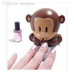 Wholesale Wholesale New Cute Monkey Hand - Wholesale-Free Shipping 2015 New Cute Monkey Hand Art Tips Nail Dryer Blower Portable Blowing Nails Dryer mini Portable Blowing Nail Tools