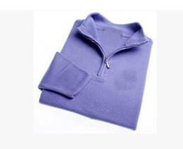 Wholesale Red Cashmere Sweaters - FREE SHIPPING 2016 brand High quality New Zipper sweater Cashmere Sweater Jumpers pullover Winter Men's sweater men brand sweaters.#0066