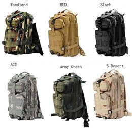 Wholesale Rucksack Bags - 30L Outdoor Sport Military Tactical Backpack Molle Rucksacks Camping Trekking Bag backpacks 50pcs Free DHL Fedex