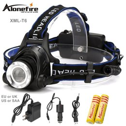 Wholesale Cree Led Headlight Headlamp - ALONEFIRE HP79 CREE XM-L T6 LED 2000Lumens Rechargeable Zoom led Headlights CREE Headlamps+2x18650 Battery 4200mAh Charger