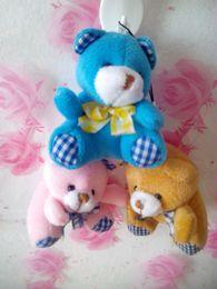 Wholesale Holiday Teddy Bears - Mobile Phone Pendant Hang Adorn Teddy Bears Plush Stuffed Girl Toys Soft Baby Figures Cute Christmas Holiday Gifts