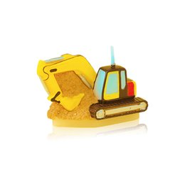 Wholesale Children S Birthday - The Children &#039 ;S Birthday Party Supplies The Birthday Candle Boy Small Gift Gift Excavator Engineering Vehicle Candle