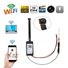 Wholesale Ccd Camera Wifi - Temper-proof CCD Video Camera V100 Wireless WIFI Mini Camera Module H.264 CCTV Camera Home Security Full HD 1080P Mini DV