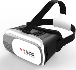 Wholesale Andriod Cases - Professional VR BOX Google andriod Cardboard Original Virtual Reality Head mounted 3D Glasses Case Phone + Bluetooth Controller Gamepad DHL