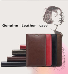 Wholesale S3 Case Real Leather - For iphone4S 5S Real Genuine Leather Wallet Credit Card Slot Case Cover For Samsung Galaxy S3 S4 NOTE2