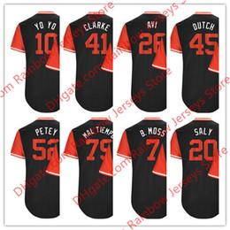 Wholesale B 52 - Custom Nickname Jerseys Jose Abreu #79 Mal Tiempo Yoan Moncada #10 YoYo Avisail Garcia #26 Avi #7 B. Moss #41 Clarke #45 Dutch #52 Petey #20