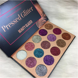 Wholesale Pressed Minerals - Beauty Glazed Eyeshadow Palette Ultra Pigmented Mineral Pressed Glitter Make Up Eye Shadow Powder Flash Colors Long Lasting Waterproof 15 Co