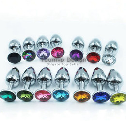 Wholesale Rosebud Metal Butt Plug - Stainless Steel Attractive Butt Plug Jewelry Jeweled Anal Plug Rosebud Sex Anal toys For Women JJD2230