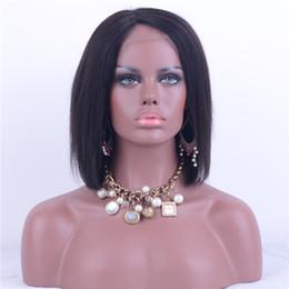 Canada Sans colle pleine dentelle / dentelle avant cheveux humains Bob perruques courte indienne Remy cheveux partie libre couleur naturelle partie libre pour les femmes noires Offre