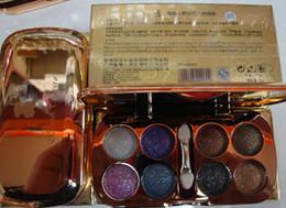 Lidschatten palette rauch online-Großhandels-Qualität 3D Eyeshadow Glitter 8 Colos Lidschatten-Palette, professionelle Augen Make-up Smoky Eye Smoking Make-up versandkostenfrei