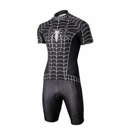 Wholesale Cycling Pants Jersey Set - Hero Cycling Jerseys Sets Black Spider-Man Bicycle Cycling Jersey Sets Short Sleeves and Short Pants Flexible Anti Pilling Cycling Clothes