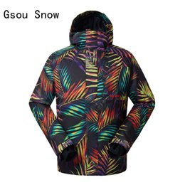Wholesale Red Band Jacket - Wholesale- Men Ski Jacket Windproof Waterproof Thicken Thermal Outdoor Sport Wear Super Warm Winter Clothing Gsou Snow Band Male Clothing