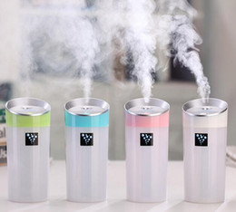Wholesale Battery Humidifier - Mini Aroma Diffuser USB Humidifier Air Purifier Purification 300ML Essential Oil Aromatherapy Diffusers Silent for Home Car