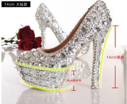 Wholesale Sparkly Shoes Wholesale - Sparkly Gorgeous Handmade Diamonds Rhinestone Wedding shoes High Heels