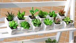Wholesale Desk Bonsai - Decorative flower pots planters artificial plants with vase bonsai tropical cactus fake succulent plant potted on the desk
