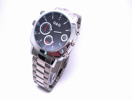 Wholesale Pc Times - Motion Detection IR night vision watch camera Waterproof 1080P Hidden camera PC webcam USB Drive Mini video recorder real time clock display