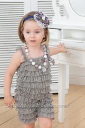 Wholesale Lace Ruffle Petti Romper - Lace Petti Romper Lace Romper Baby Girls Romper Baby Romper Baby Girl Outfit Ruffle Romper Queenbaby 120pcs lot