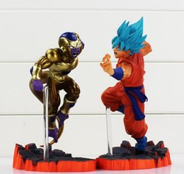 Wholesale Goku Action Toy - 2016 Dragon Ball Z Super Saiyan Goku Son Freeza Freezer Ultimate Form Anime Combat Edition PVC Action Figure Collectible Toys