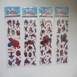 Wholesale Spiderman For Kids - 2015 children boys greatest cartoon spiderman stickers PVC Three Dimensions decorate the room kids boy girl kindergarten Gifts 200pcs lot
