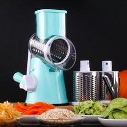 Wholesale Manual Vegetable Cutters - Round Mandoline Slicer Vegetable Cutter Manual Potato Julienne Carrot Slicer Cheese Grater Stainless Steel Blades Kitchen Tool CCA7995 24pcs