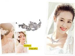 Wholesale Wedding Hair Comb Pearl Diamante - Bridal Headpiece Hair Pin Bridal Wedding Flower Pearls Hair Comb Clip Diamante Crystal Rhinestone Hot Wedding Hair Comb