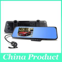 "Wholesale Camera Av Out - 4.3"" LCD Bule Screen HD1080P V180 AV-OUT one Camera Rearview Mirror Viedo Recorder Car DVR Blackbox G-Senser 010227"
