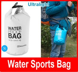 Wholesale Waterproof Bag 5l - NK 5L Ultra-portable waterproof travel bags 4 colors NatureHike outdoor drifting swimming waterproof bags Free shipping