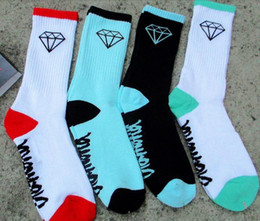 Wholesale Diamond Skateboard Socks - DIAMOND terry socks thicken stockings Athletic men women basketball football skateboard sports cotton high help sock drop shipping 20pcs