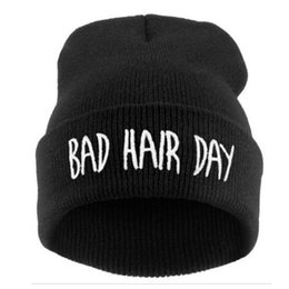 Wholesale Winter Hat Swag - Wholesale-Hot Sale! Sport Winter Bad Hair bone Cap Men Brand hat Beanie Knitted Winter Hiphop Hats For Women Fashion Caps Weave Swag