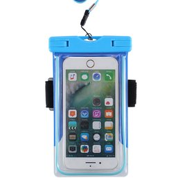 Wholesale Waterproof Pouch Dry Bag Case - Spuitom Universal Waterproof Case with Armband Luminous Ring Water Resistant Pouch Dry Bag with Lanyard for iPhone Smartphone Devices