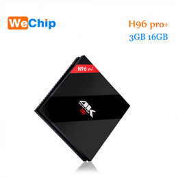 Wholesale Android Tv Box 3g - H96Pro Plus android tv box S912 TV Boxes 7.1 OS 3G 16G 2.4G 5.8GHz Wifi 4K h96 pro tv box
