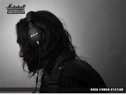 Wholesale Ears Monitors - Marshall MONITOR Over-Ear Headphones w  Microphone - Black Portable rock HIFI Noise Cancelling headset can change line ladle M-ACCS-00152
