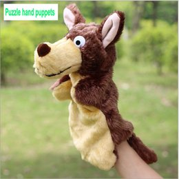 Wholesale Wolf Fingers - The new children's plush toy 2015 new show props nursery teaching aids wolf hand puppet doll appease paternity