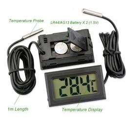 medidor digital de la temperatura del termómetro Rebajas Termómetro digital cámara térmica sensor de temperatura electrónica del coche instrumentos sensor de sonda a prueba de agua estación meteorológica metro LZ0682