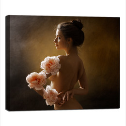 Wholesale Oil Painting Canvas Body - Body Art Canvas, Single Panel Sexy Wall Decor Beautiful Nude Female Canvas Prints Paintings for Living Room Bedroom Wall Decorations No Fram