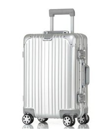 "Wholesale Red Suitcase - Aluminum magnesium alloy tie rod box, all-aluminum box business suitcase six color specifications, suitable for travel, travel, etc. 20 ""24"""