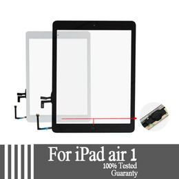 Wholesale Replacement Screen Glass - For iPad air 1 for iPad 5 Touch Screen Glass Digitizer Assembly with Home Button& Adhesive Glue Sticker Replacement A1474 A1475 tested well