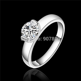 Wholesale Top Beautiful Rings - R603 beautiful wedding   engagement ring with swiss CZ diamond fashion 925 sterling silver jewelry Top quality